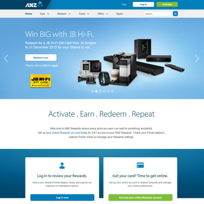 ANZ Rewards web banners
